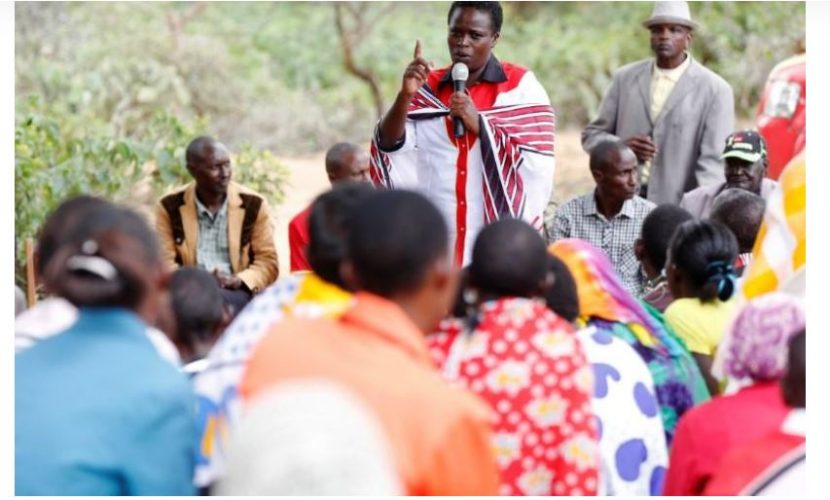 By Katharine Houreld 6 Min Read Kenyan lawmaker Sarah Korere talks to supporters during an election campaign rally in the village of Dol Dol in Laikipia County, Kenya, July 25, 2017.