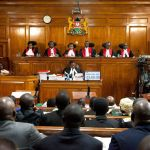 Kenyan Supreme Court judges. Photographer: Sayyid Abdul Azim/AP
