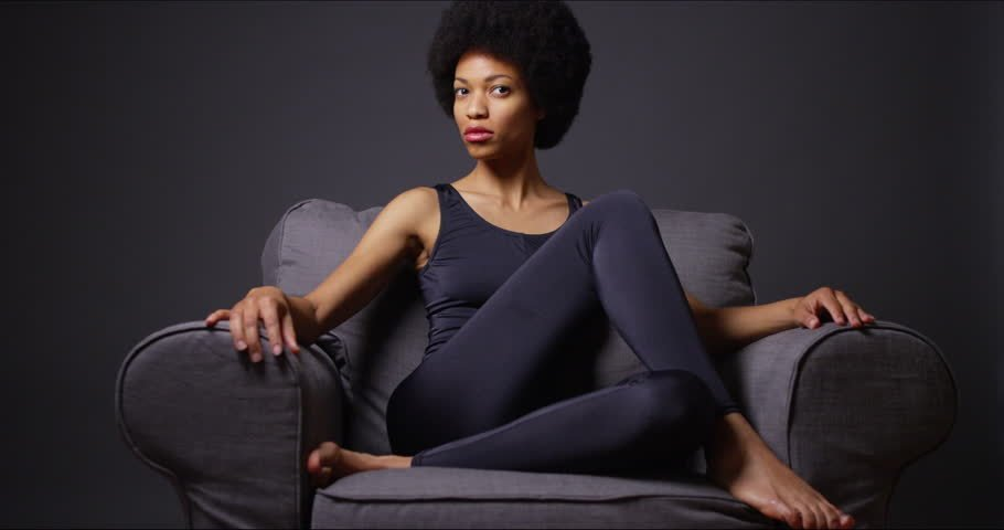 African Woman Relaxed