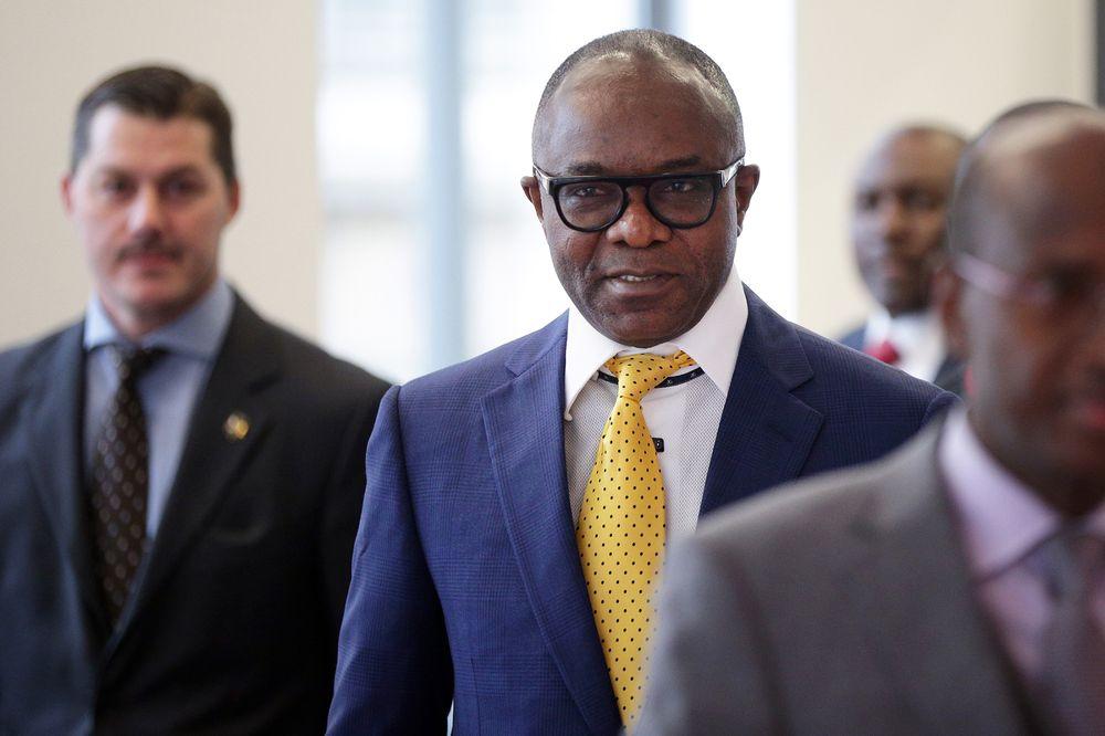 Emmanuel Ibe Kachikwu arrives at the OPEC Secretariat in Vienna, Austria, on Sept. 22, 2017. Photographer: Lisi Niesner/Bloomberg