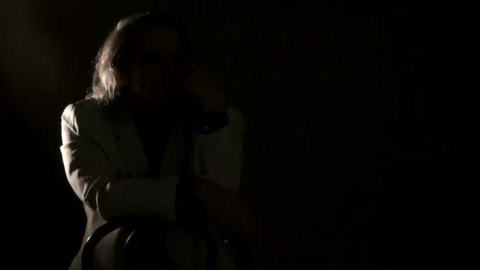 man in a dark