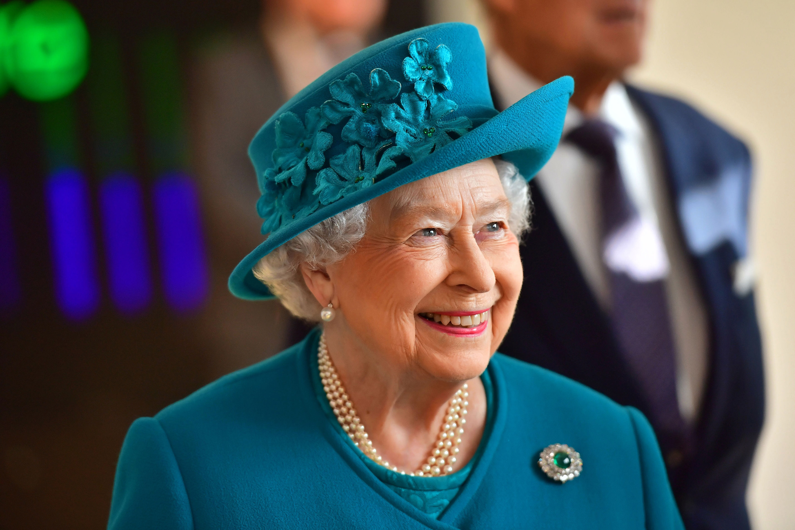 Britain's Queen Elizabeth II arrives to attend the opening of the National Cyber Security Centre in London on February 14, 2017. Queen Elizabeth II inaugurated Britain's National Cyber Security Centre on Tuesday, spearheading the country's efforts to combat a growing wave of cyber attacks notably from Russia. / AFP / POOL / Dominic Lipinski (Photo credit should read DOMINIC LIPINSKI/AFP/Getty Images)