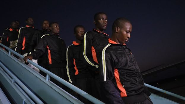 Nigeria has chartered several planes to bring migrants back home from Libya. Photo: AFP