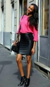 pink plus skirt
