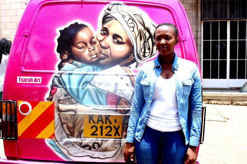 the-Artist-of-the-vehicle-Sarafina-Mumbi-of-Tsarah-Arts