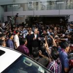 Najib Razak leaves the Malaysian Anti-Corruption Commission on May 24. Photographer: Joshua Paul/Bloomberg