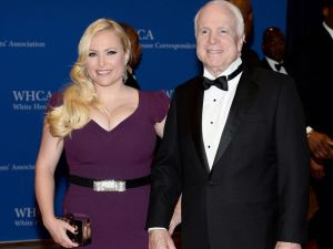 Megan and John McCain in Washington on May 3, 2014. Photographer: Dimitrios Kambouris/Getty Images