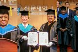 Aisha Buhari Receives Doctorate Award From The Sun University, South Korea