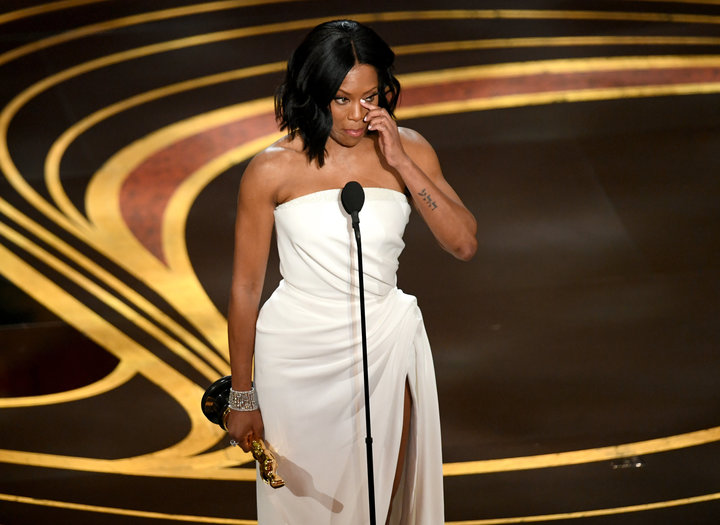 HOLLYWOOD, CALIFORNIA - FEBRUARY 24: Regina King accepts the Actress in a Supporting Role award for 'If Beale Street Could Talk' onstage during the 91st Annual Academy Awards at Dolby Theatre on February 24, 2019 in Hollywood, California. (Photo by Kevin Winter/Getty Images)