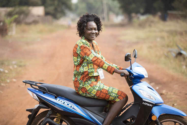 SOUTH SUDAN, Yambio: 18 March 2019  Christine Joseph Ngbaazande poses for a picture outside the World Vision compound in Yambio, South Sudan. Christine was awarded the Bond of Development Humanitarian Award recognising the hard work that humanitarian workers deliver.