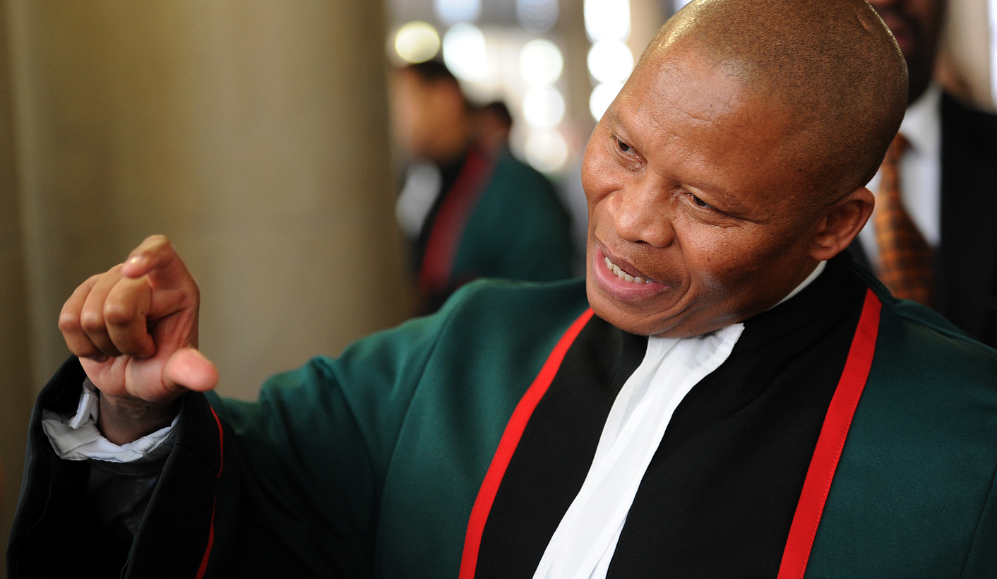 Current Chief Justice Mogoeng Mogoeng is seen after holding a ceremonial court session for the late former Chief Justice Pius Langa at the Constitutional Court in Johannesburg, Tuesday, 27 August 2013.  The session was attended by members of the Langa family, friends, the judiciary and law academics. Langa died on 24 July 2013 at the Milpark Hospital in Johannesburg, following a long illness.Picture: Werner Beukes/SAPA