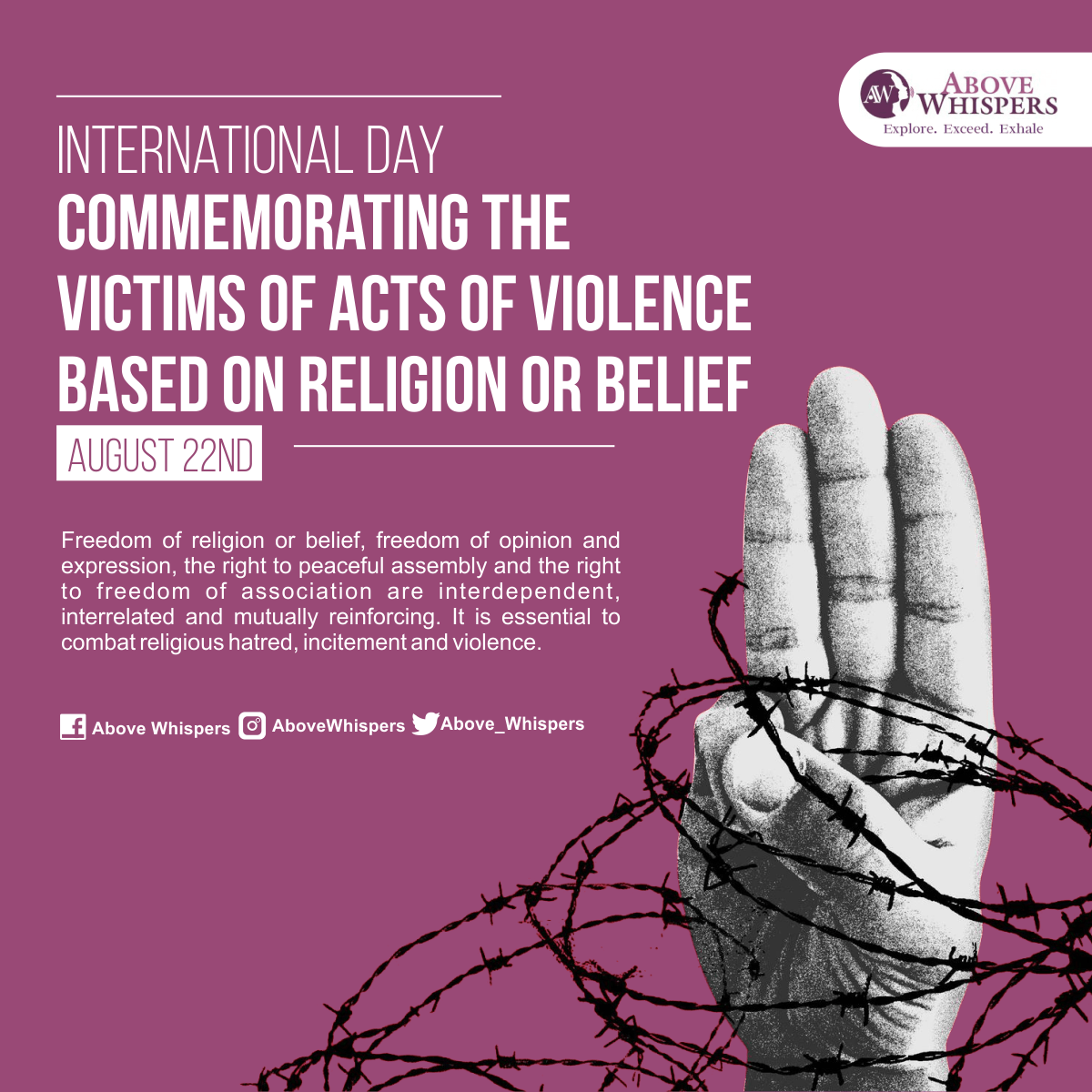 International Day of Violence based on religion or belief (1)