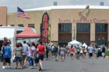 dh070513j/west/riorancho/07052013---The 10th Annual Pork & Brew BBQ State Championship at the Santa Ana Star Center in Rio Rancho, photographed on Friday July 5, 2013. (Dean Hanson/Albuquerque Journal)
