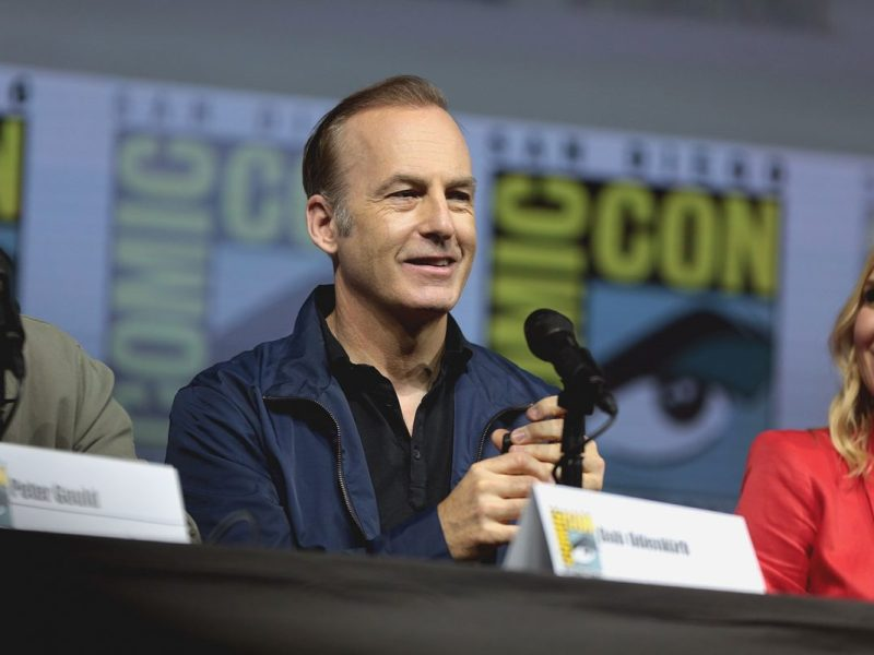 """Bob Odenkirk speaking at the 2018 San Diego Comic Con International, for """"Better Call Saul"""", at the San Diego Convention Center in San Diego, California. Please attribute to Gage Skidmore if used elsewhere."""