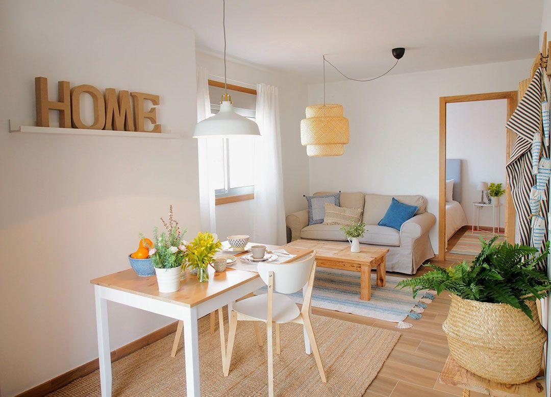 Abracadabra Decor Vigo Home Staging decora para vender o alquilar apartamento en la playa - salón comedor