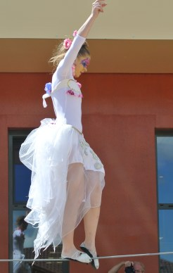 spectacle numéro fil de fer feerique animation fee loup fragon danse duo echasses echassier fildeferiste vaporeux magnifique amour poesie tight wire saut acrobatie macon lyon (12)