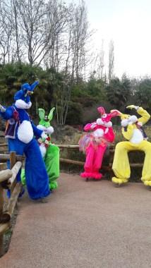 Lapinous' Foufous echassiers rebondissants loufoques parade animation evenementiel lapins fantaisie extravagance sautillants mascottes paques (34)