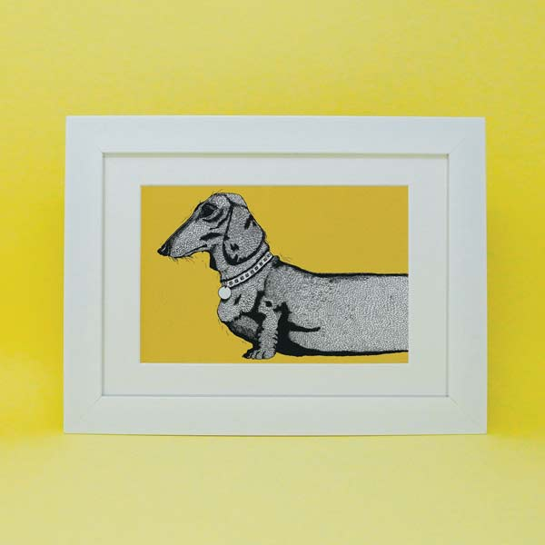 Charley Rabbit Dachsund print