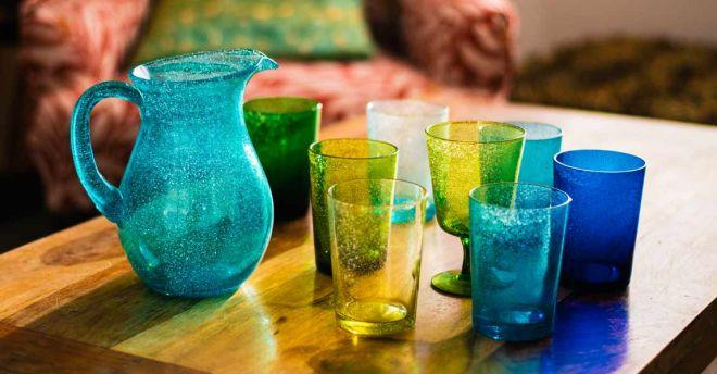 British Colour Standard bubble glassware