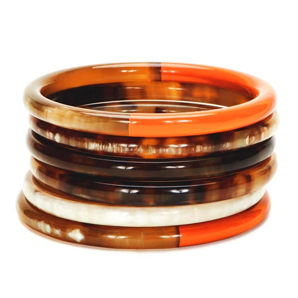 Lindochineur Horn laquered bangles