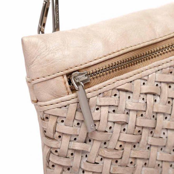 Abbacino beige leather cross body bag