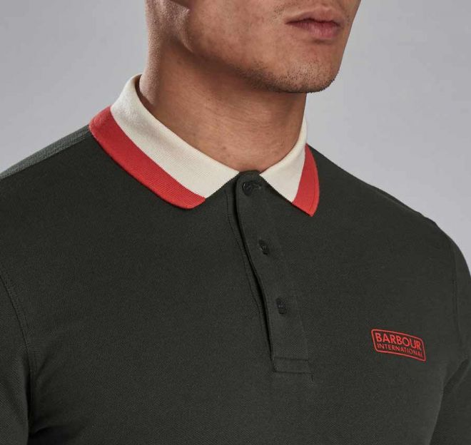 Barbour International Ampere Polo Shirt detail