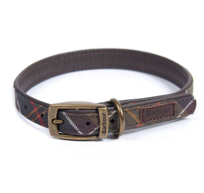 Barbour leather tartan dog collar Barbour tartan dog collar- Large