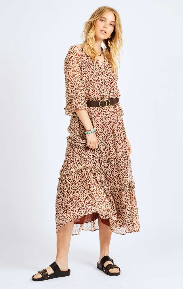 Moliin Kirti cinnamon dress