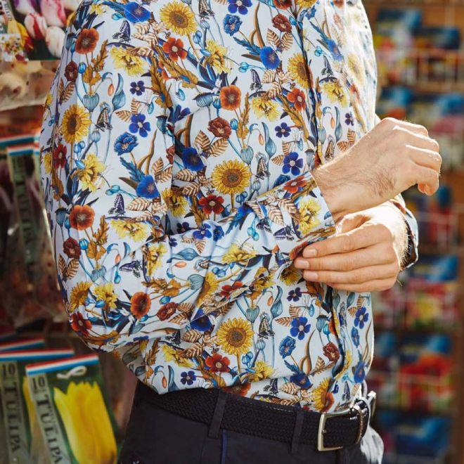 R2 Amsterdam Sunflowers shirt detail
