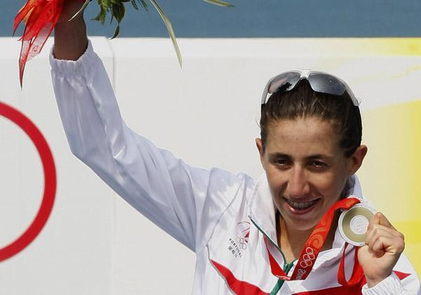 Vanessa Fernandes conquistou hoje a 1ª Medalha de Prata para Portugal