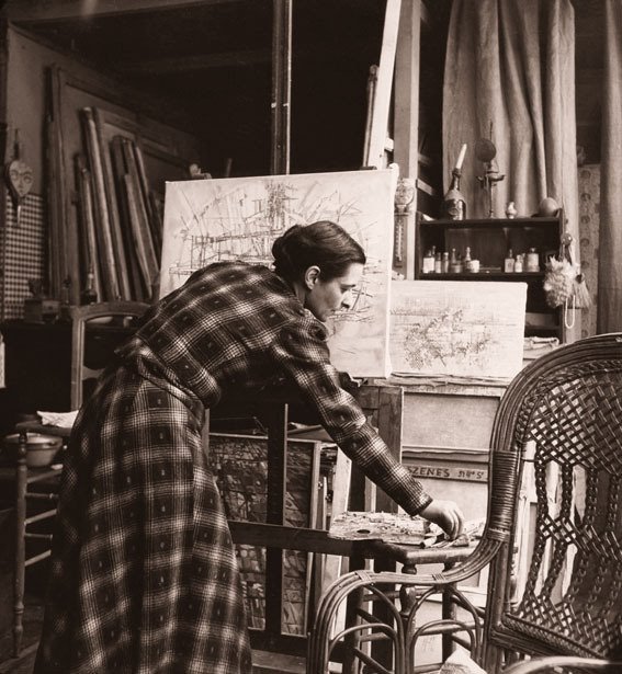 Vieira da Silva na casa-atelier do Boulevard Saint-Jacques