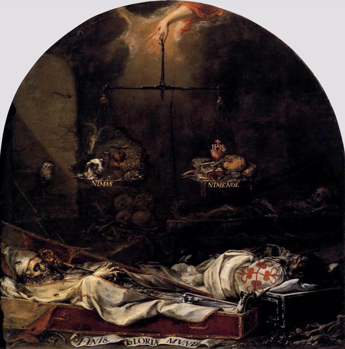 """""""Finis Gloriae Mundi"""", de Juan de Valdés Leal , século XVII"""