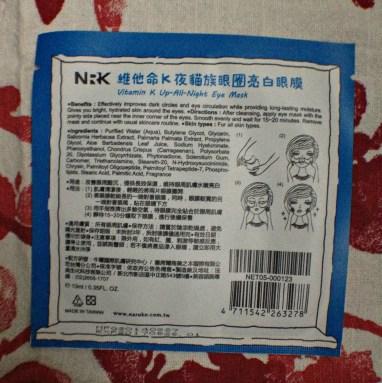 NRK Vitamin K Up-All-Night Eye Mask