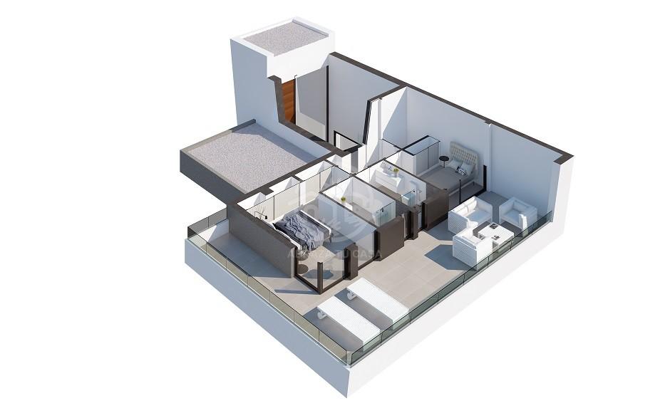 Polop Villas - plot 1 - AQUA first floor infographic