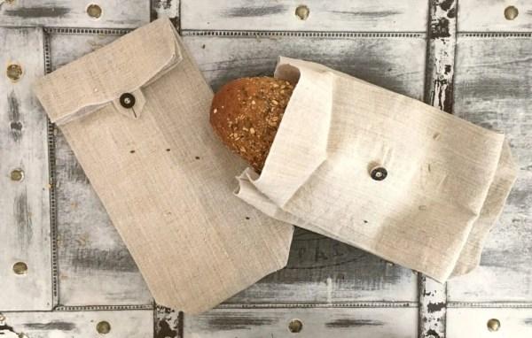 ľanové vrecko na chlieb