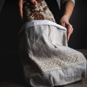 Ľanové vrecko na kváskový chlieb