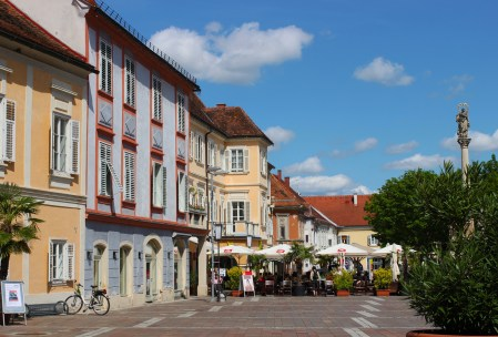 The Hauptplatz in Bad Radkersburg, Austria where I spent 5 months in high school.