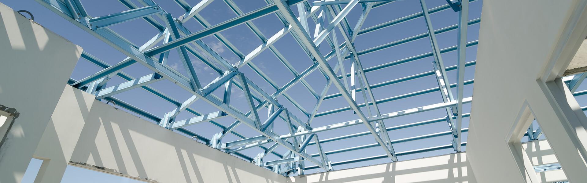 Estrutura de telhado em Light Steel Frame