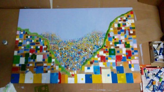 "Foto 26. "" Habitat "" Acrilic on canvas, .70 x 1.10 RCF"