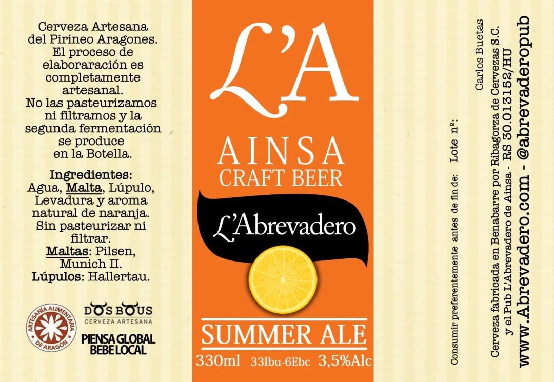L'A Beer - Cerveza Ainsa - LA Beer Cerveza Abrevadero