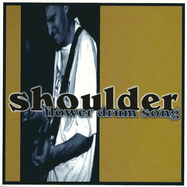 """Shoulder split 7"""" vinyl with Morning Again, Moo Cow Records, 1997"""