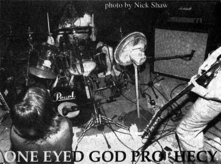 One Eyed God Prophecy, pictured in HeartattaCk zine, photo courtesy of Nick Shaw
