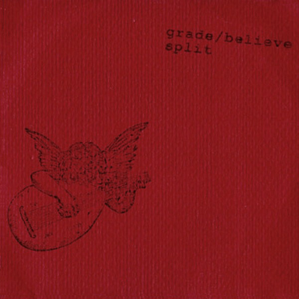 WR-001 Grade/Believe split CD, 1994. Red cover