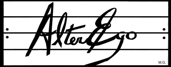 Alter-Ego logo designed by Laurent O'Brien, 1988
