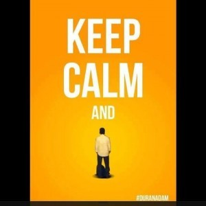 Standing man action 2, keep calm