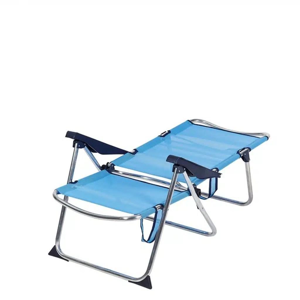 fauteuil de plage confort bleu ciel