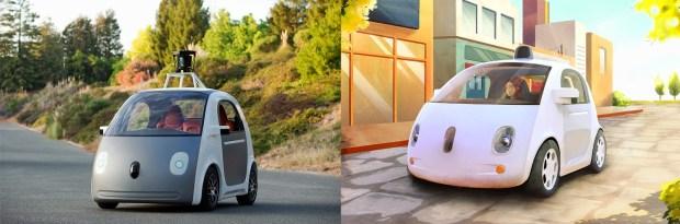 google self-driving car May Vs December Version