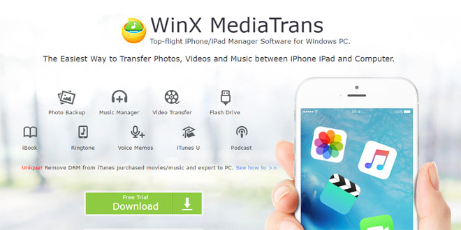 WinX MediaTrans Review, Strip DRM Protection and Export Your