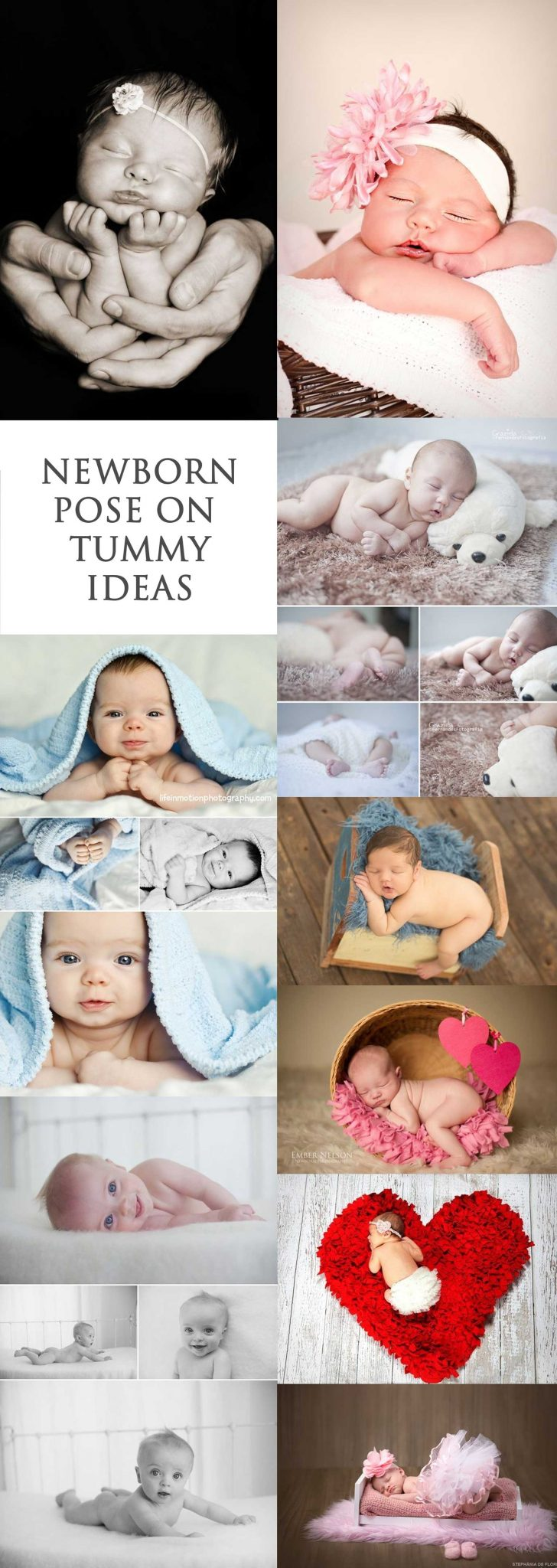Pose Ideas on Tummy