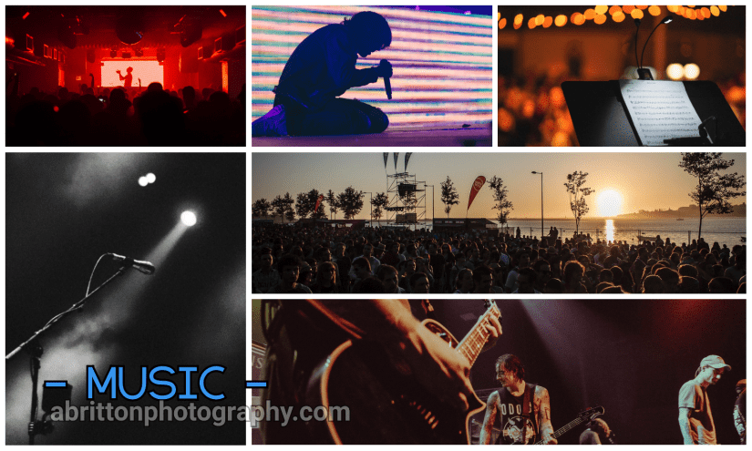 Music landscape photography ideas